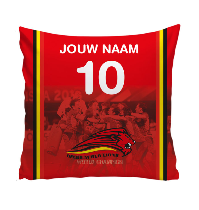 Personalised pillow Red Lions