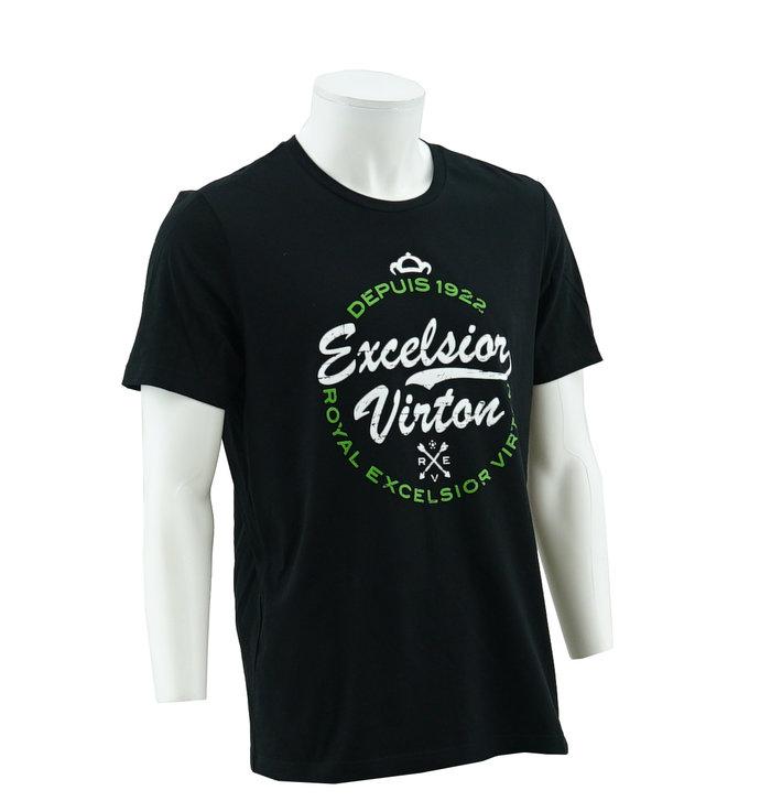 T-shirt noir logo Virton