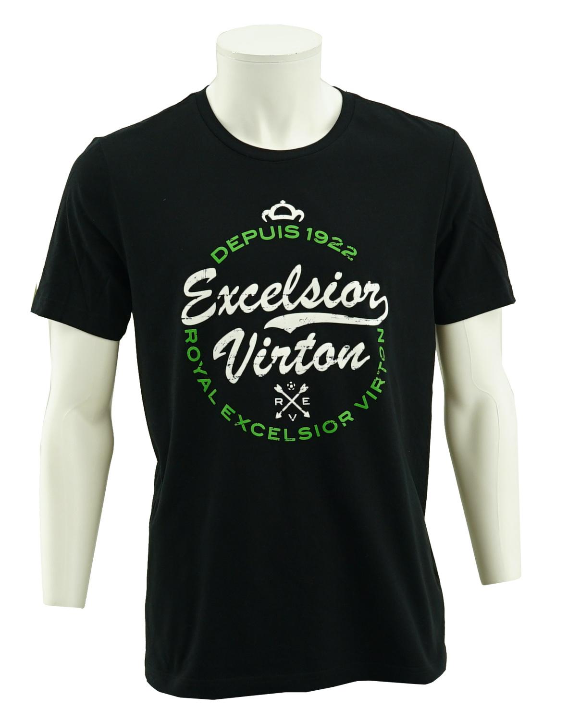 T-shirt zwart logo Virton