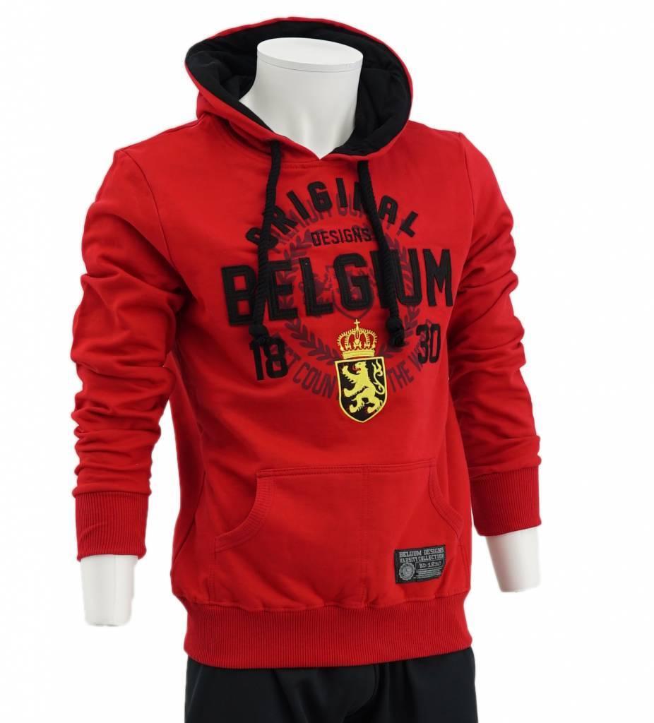Hoodie rouge Belgium