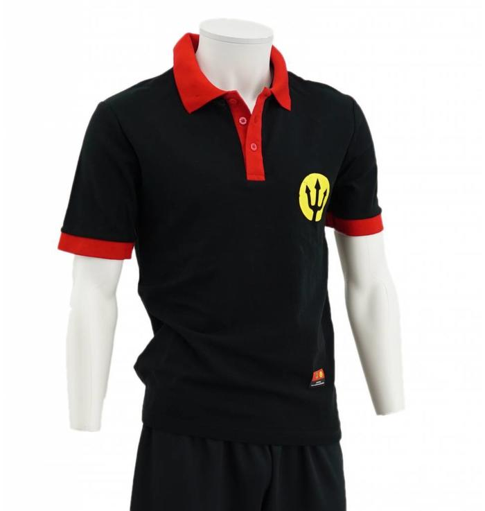 Polo noir Diables Rouges