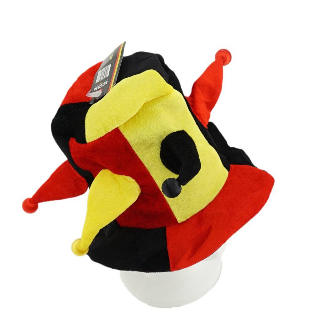 Jesters hat black yellow red