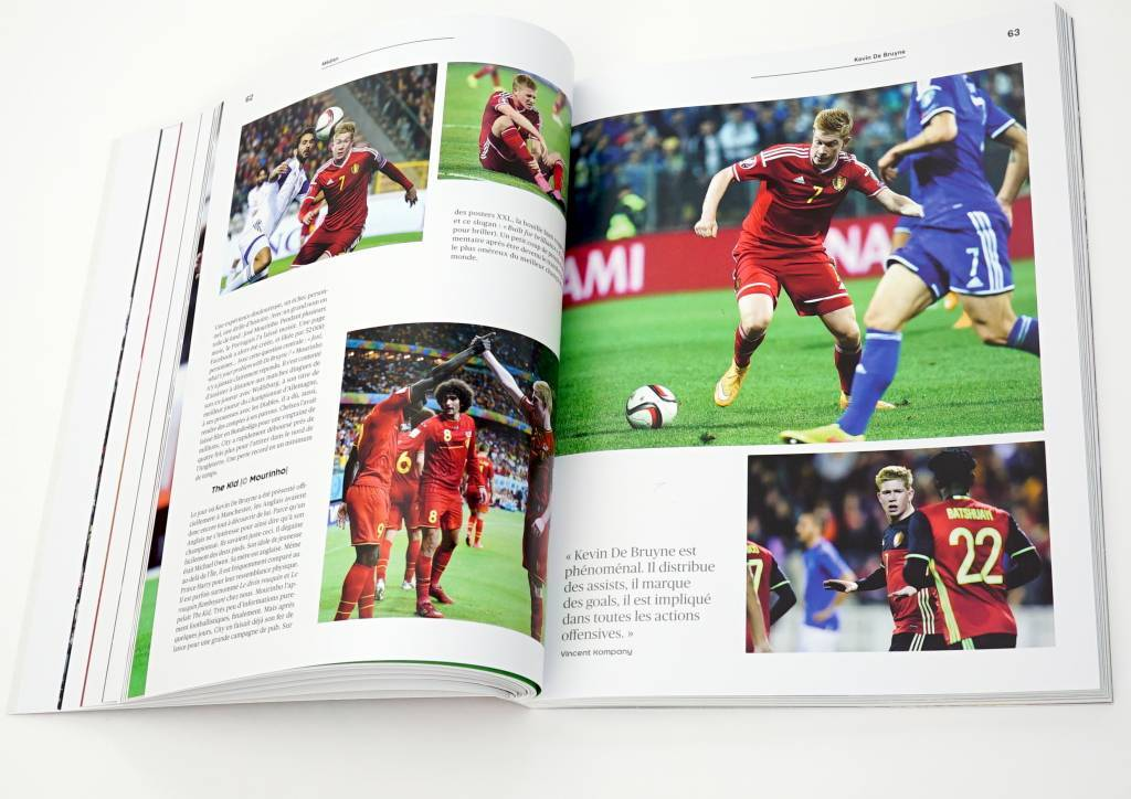 Official book with all players from the Belgian Red Devils