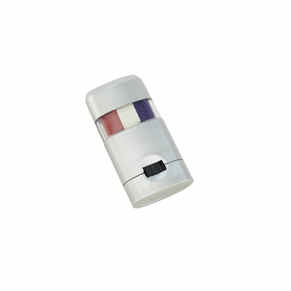 Make-up stick blue-white-red