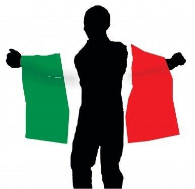 Cape drapeau Italie