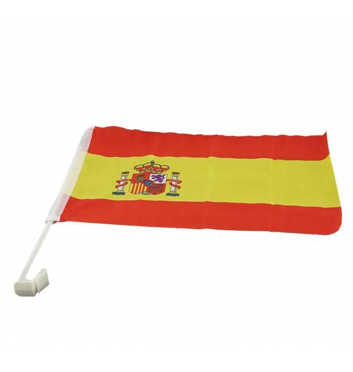 Car flag Spain