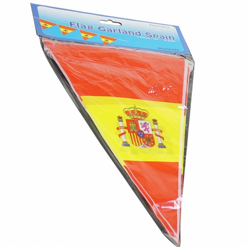 Flag garland Spain