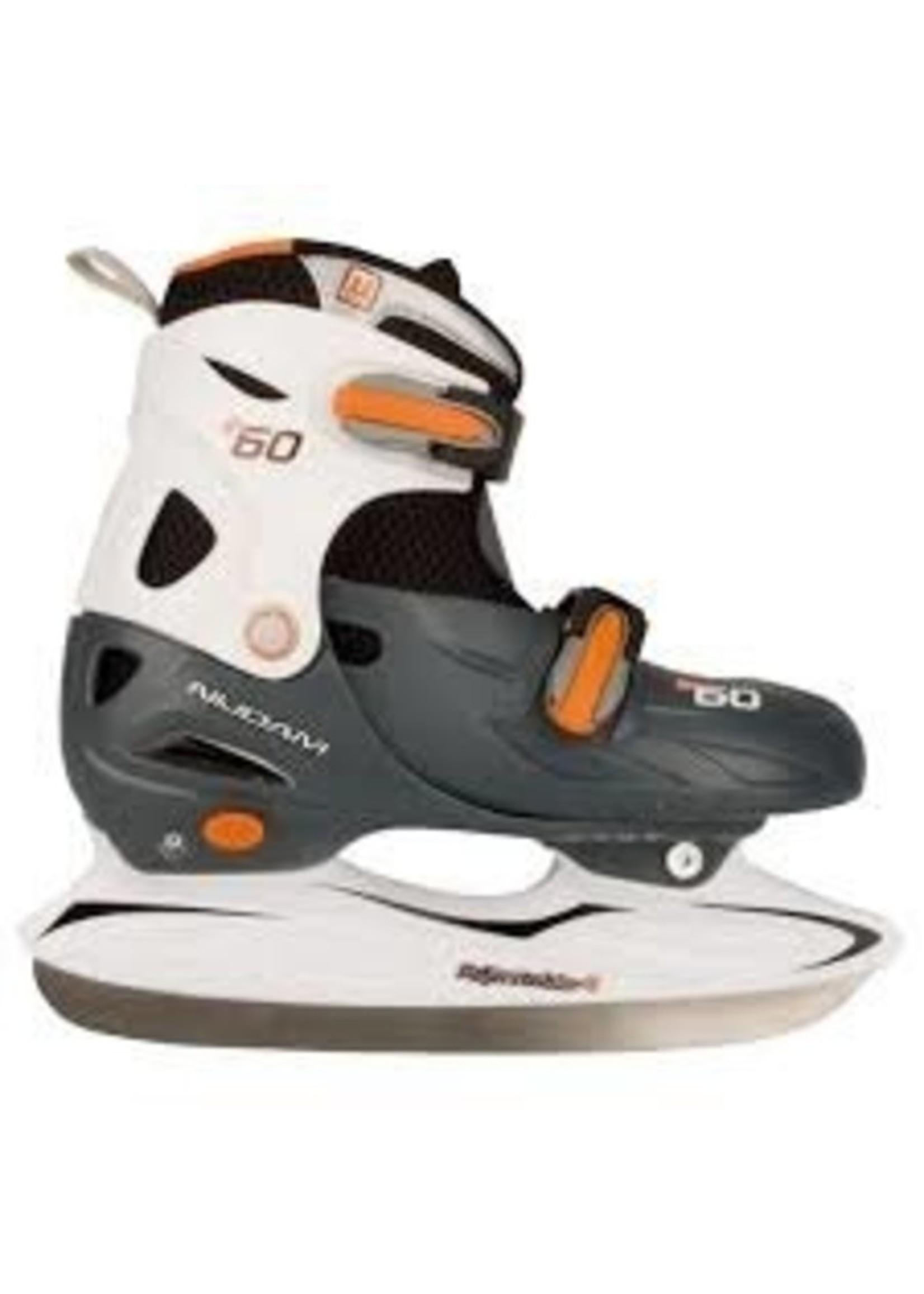 Nijdam Nijdam Hockey verstelbare schaatsen 3060 grijs, wit en oranje