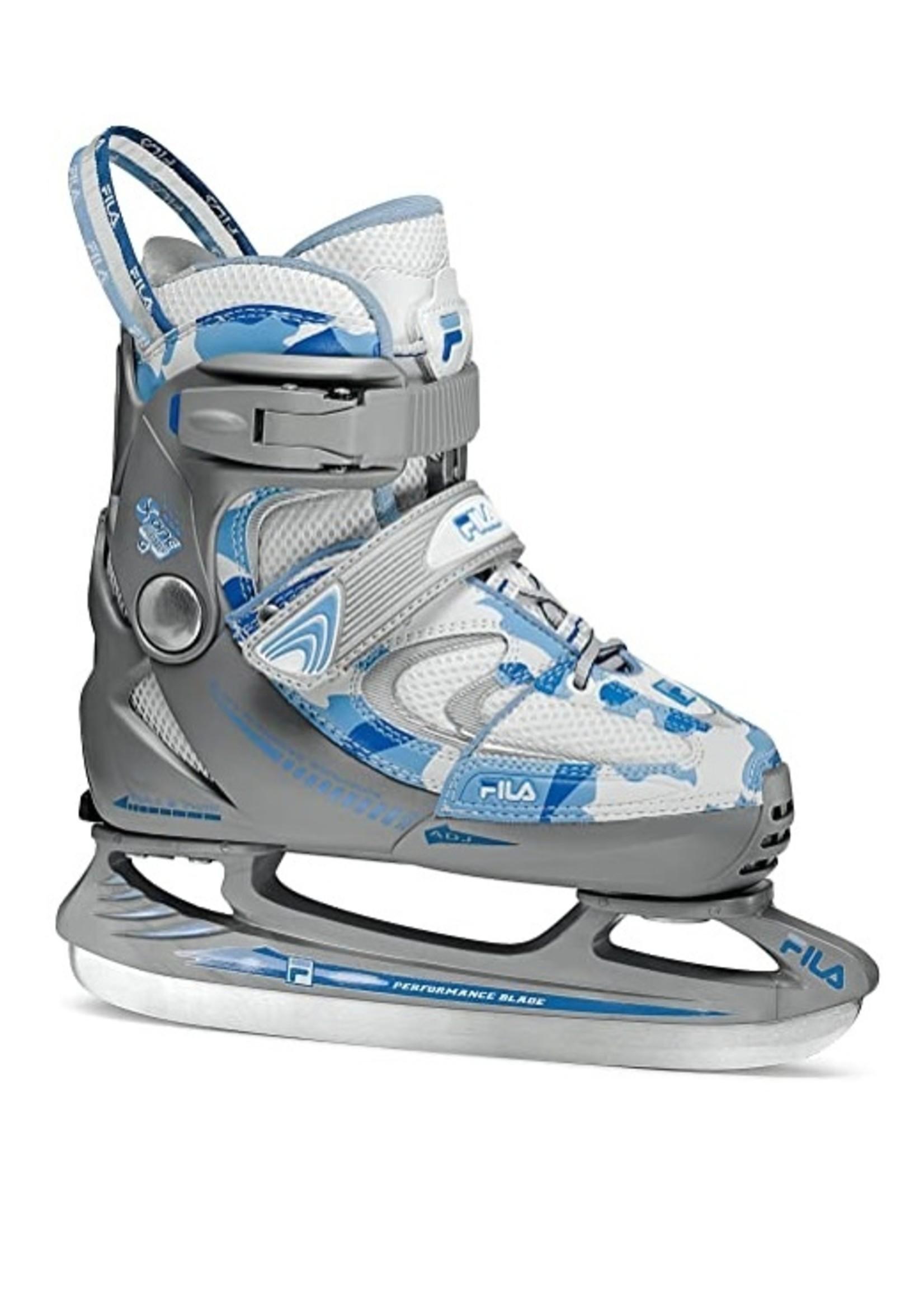 Fila Fila  X-One Comp G Ice Army Blue IJshockey schaats, grijs met wit en blauw