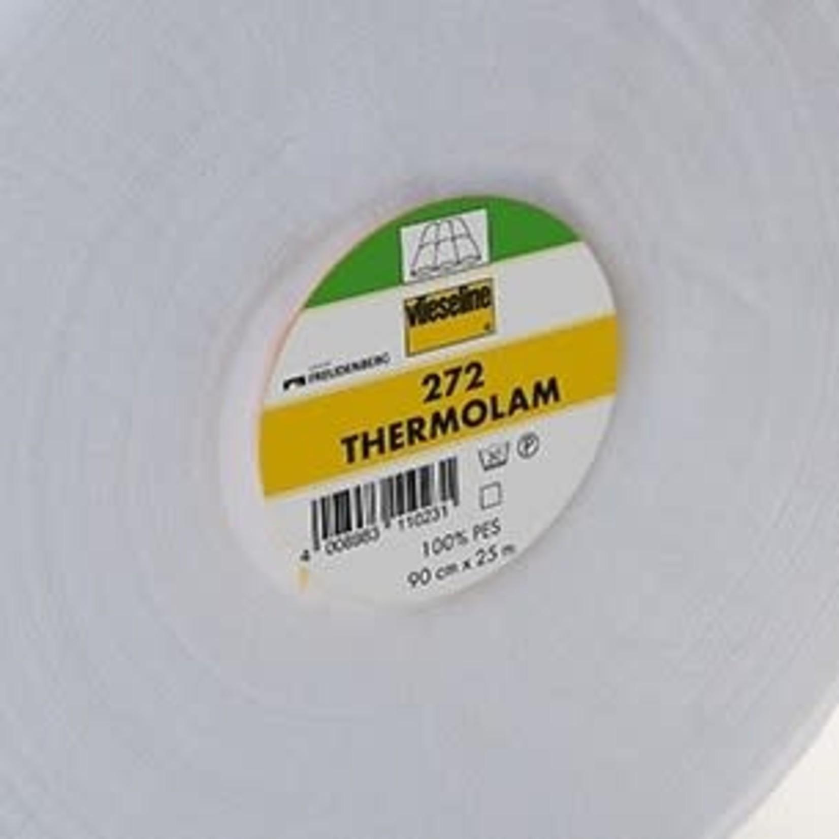 Vlieseline Polyester  - 272 Thermolam  - Van de rol (per 10 cm) 90 cm breed