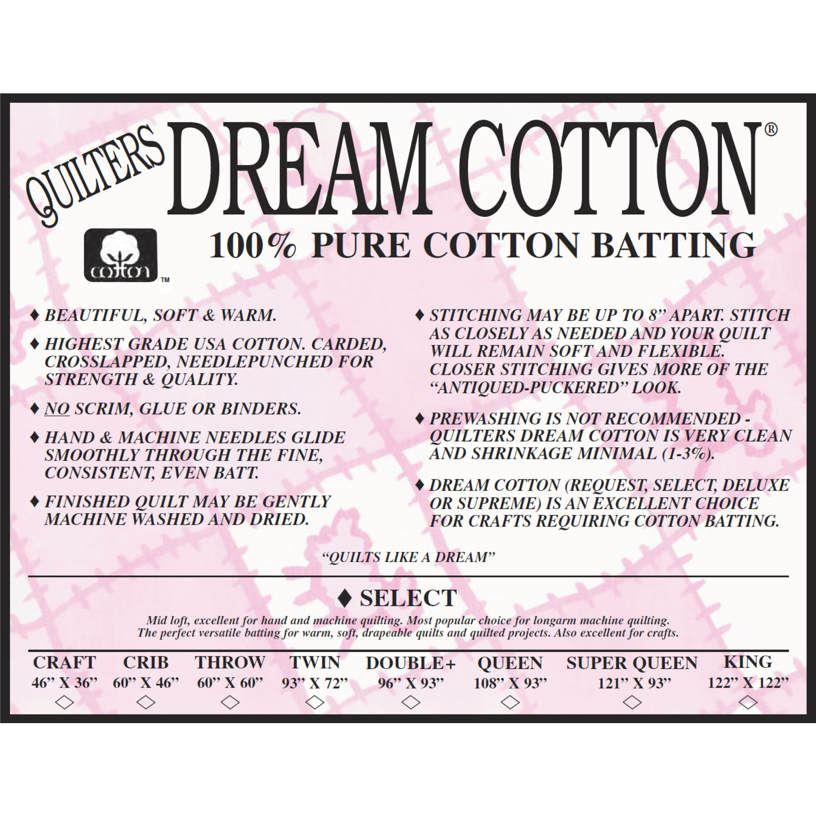 Quilters Dream Katoen - Cotton Select - 115 cm x 150 cm Crib