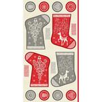 Makower uk Christmas 21 Scandi - Mini Stocking - Panel
