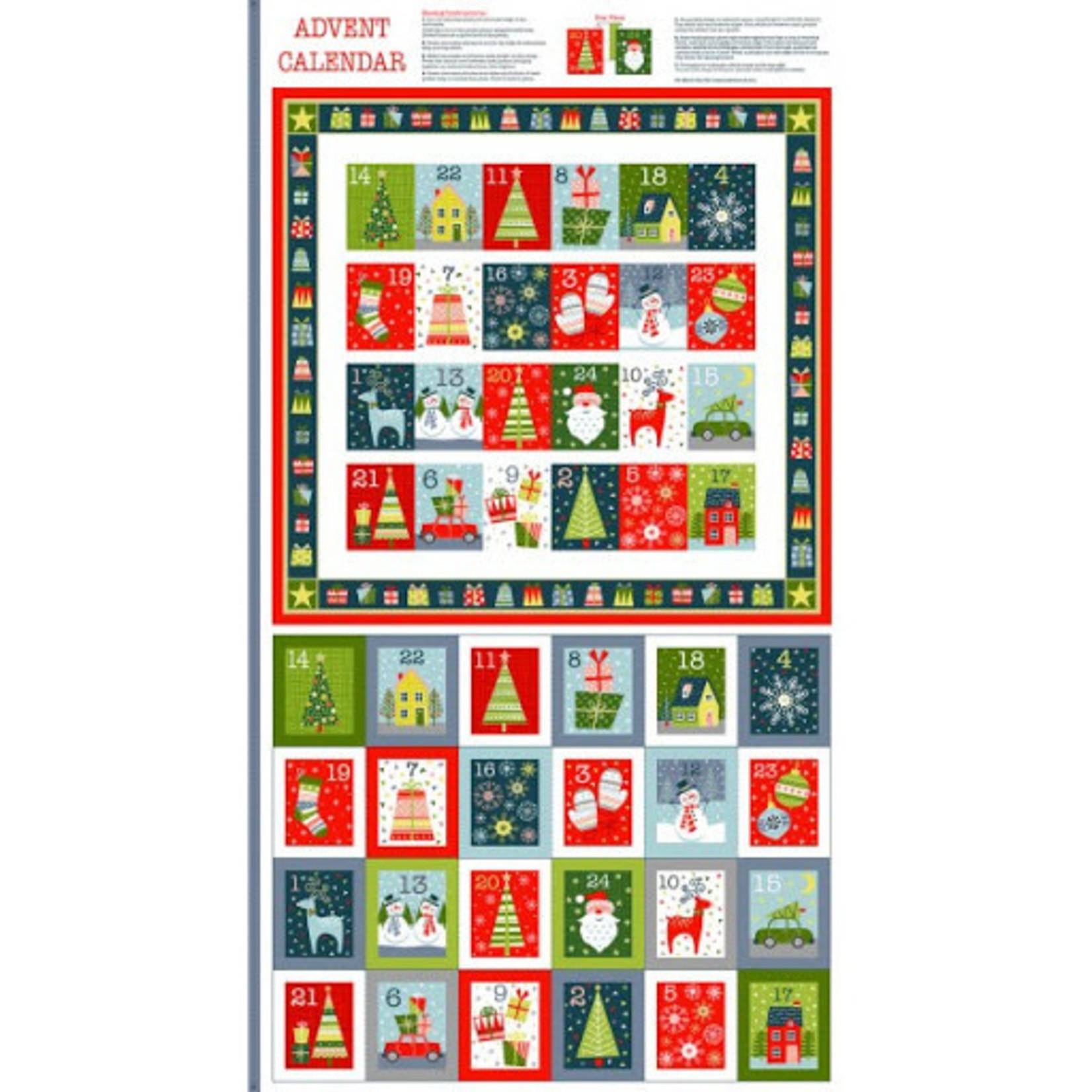 Makower uk Christmas Joy - Advent - Panel