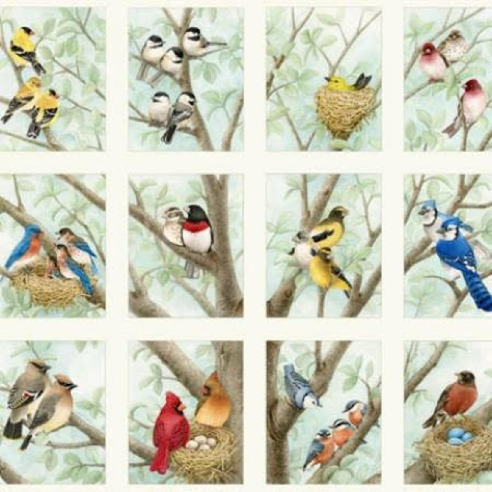 Elizabeth's Studio Beautiful Birds - Family Tree - Panel