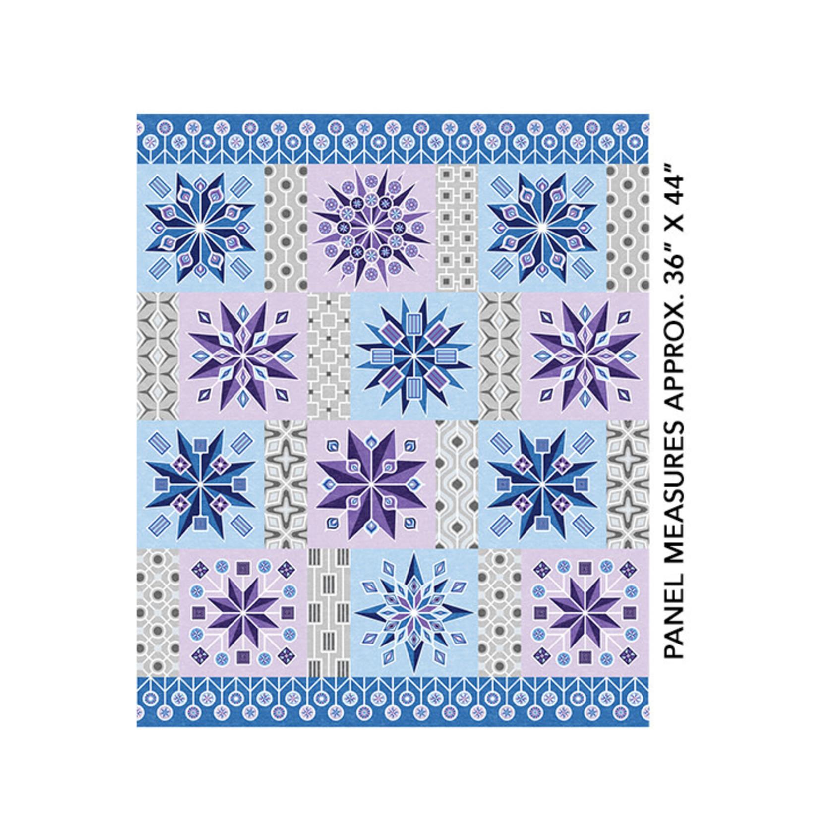 Benartex Studio Cotton Shot Harmony - Lollipop Blocks - Blue - Panel