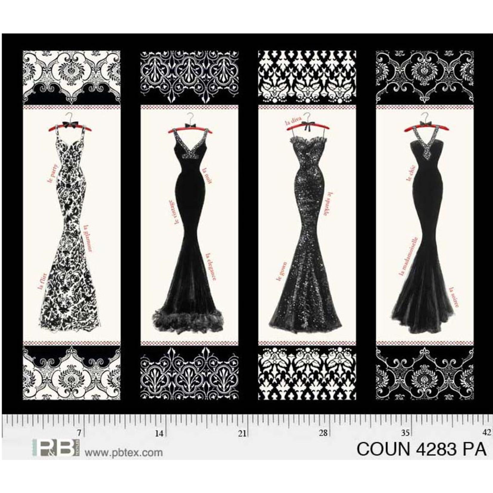 P&B Textiles Couture Noir - Panel