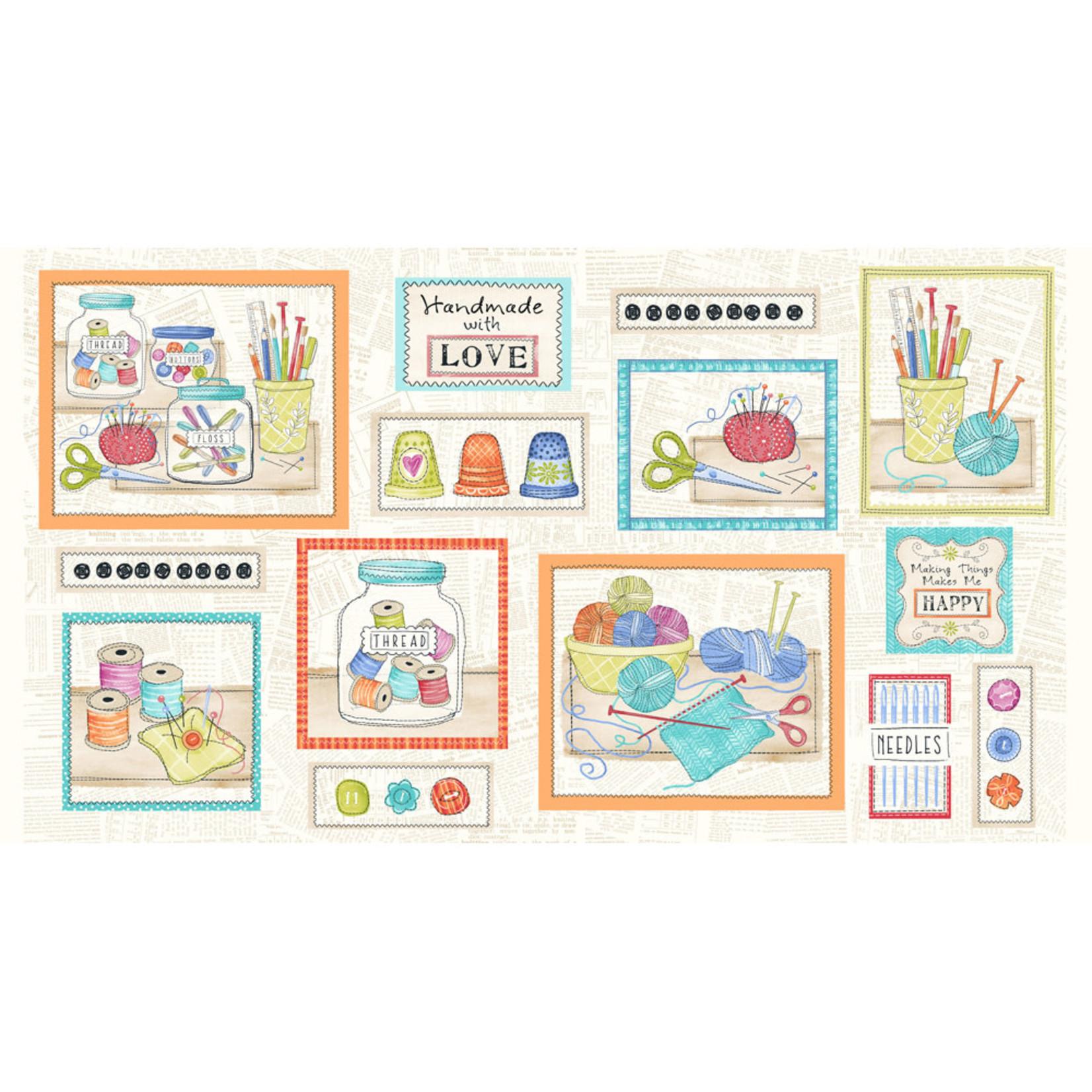 Stof Fabrics Handmade With love - Panel