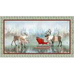 QT Fabrics Lake Caribou - Nordic Deer - Panel