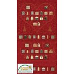 Stof Fabrics Magic Christmas - Red - Panel