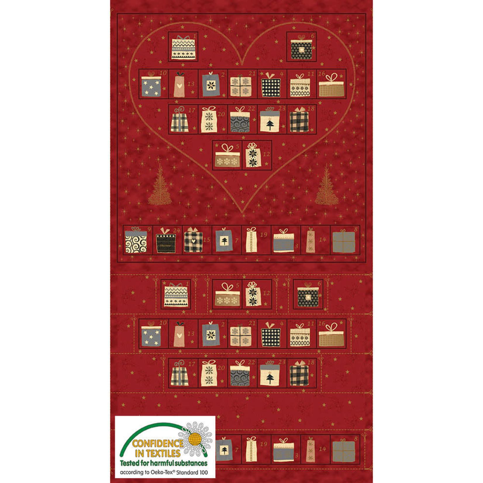 Stoffabrics Magic Christmas - Red - Panel