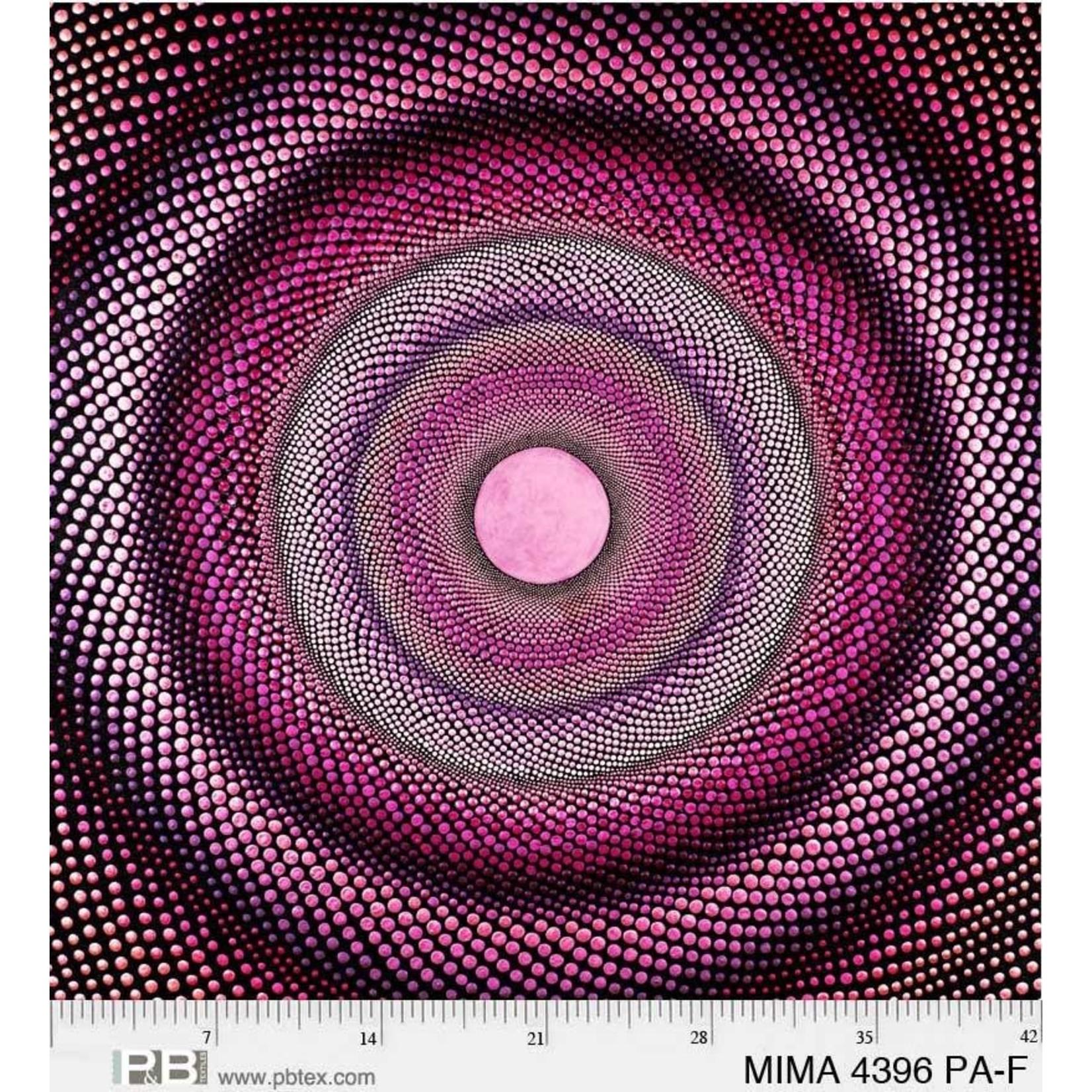P&B Textiles Mindful Mandalas - Roze - Panel