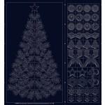 QH Textiles Sashiko - Wagara - Season's Greetings - Navy - Panel