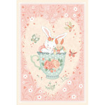 StudioE Fabrics Woodland Tea Time - Bunny in Teacup - Panel