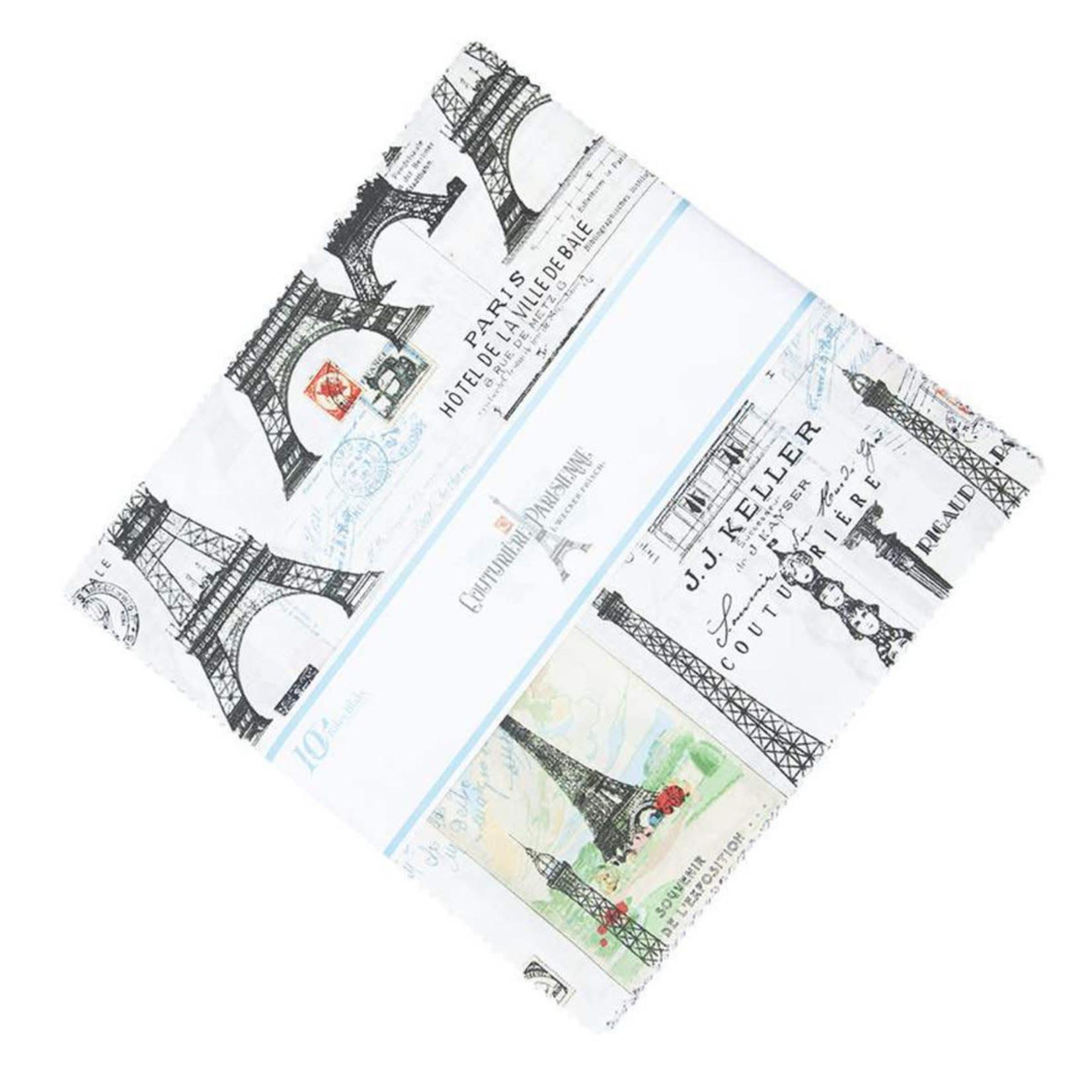 Riley Blake Designs Couturiere Parisienne  - Charm Pack - 42 Vierkanten