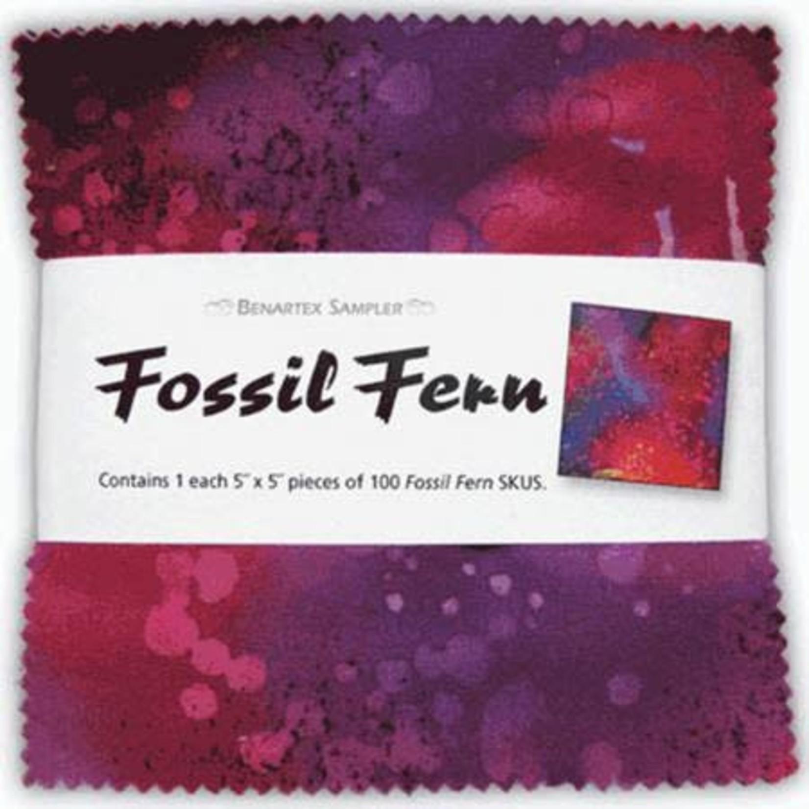 Benartex Studio Fossil Fern  - Charm Pack - 100 Vierkanten