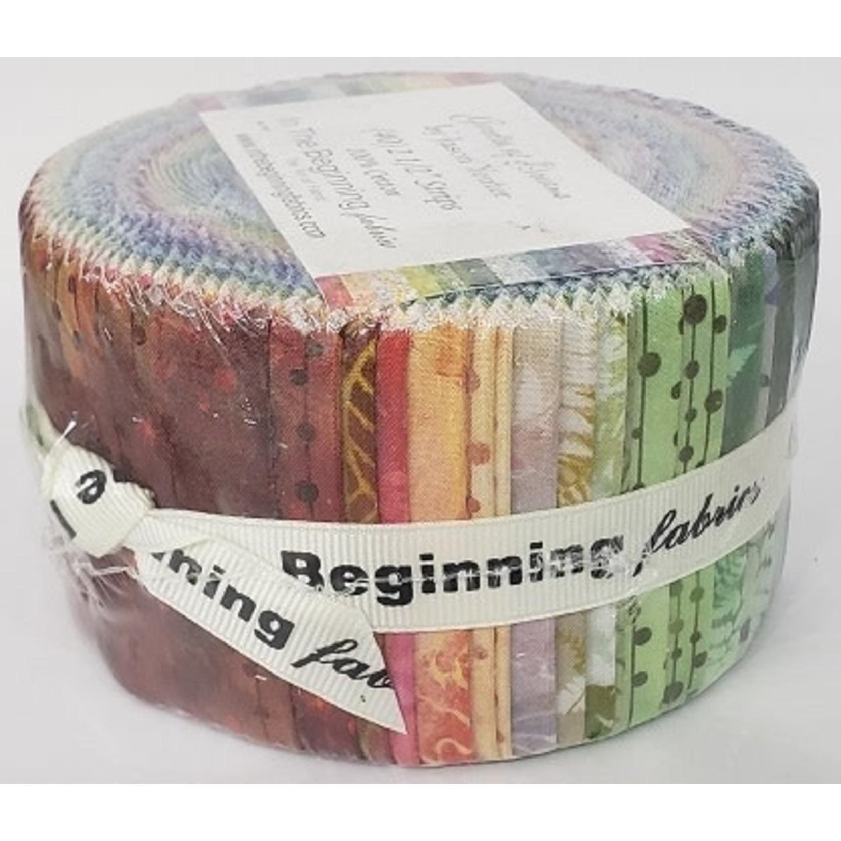 In the Beginning Fabrics Garden of Dreams - Jelly Roll - 40 Stroken