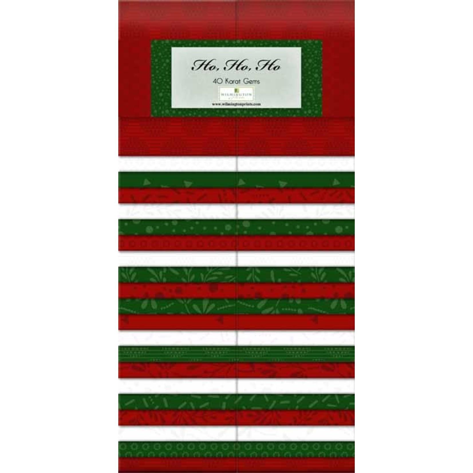Wilmington Prints Essentials - Ho, Ho, Ho - Jelly Roll - 44 Stroken