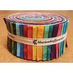 Marienhoffgaarden Basic Solids - Jelly Roll - 40 Stroken