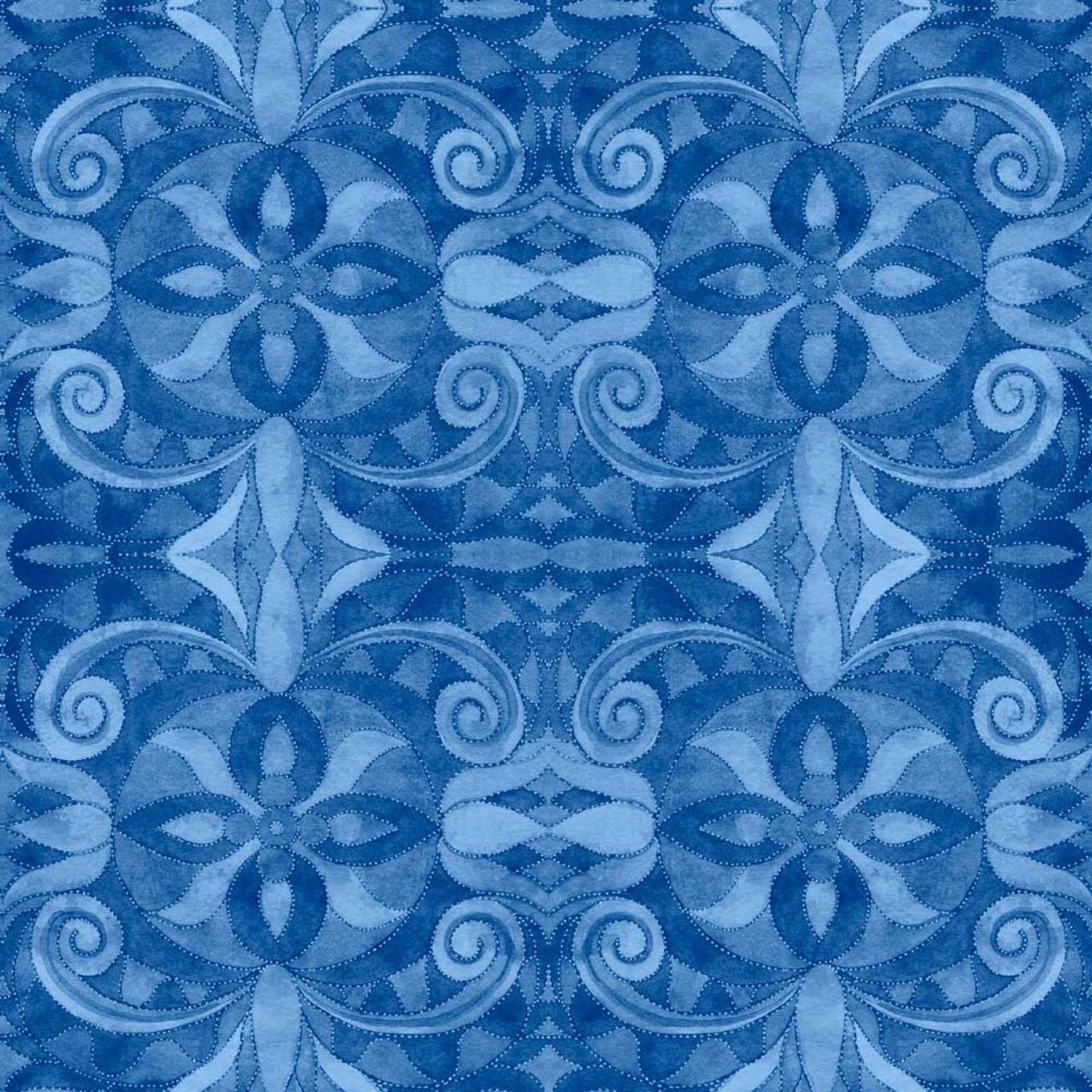Blank Quilting Baroque - Blauw