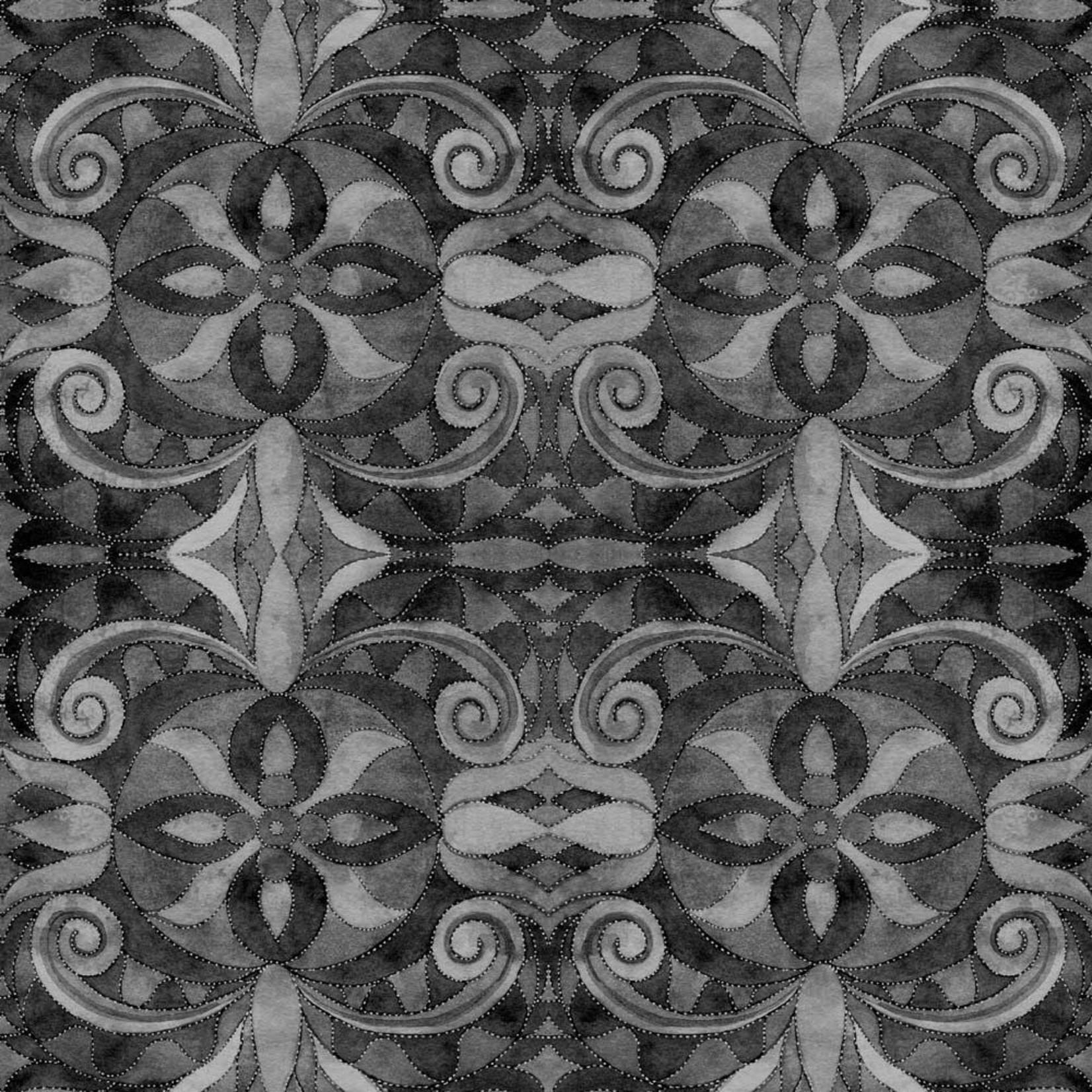 Blank Quilting Baroque - Zwart