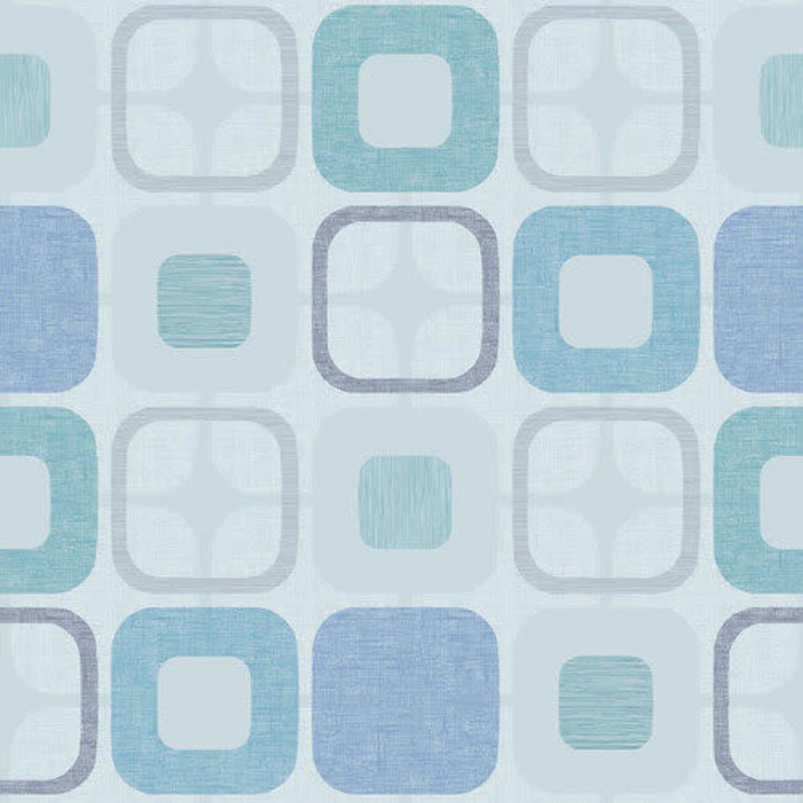 Blank Quilting Geo Square - Light Blue