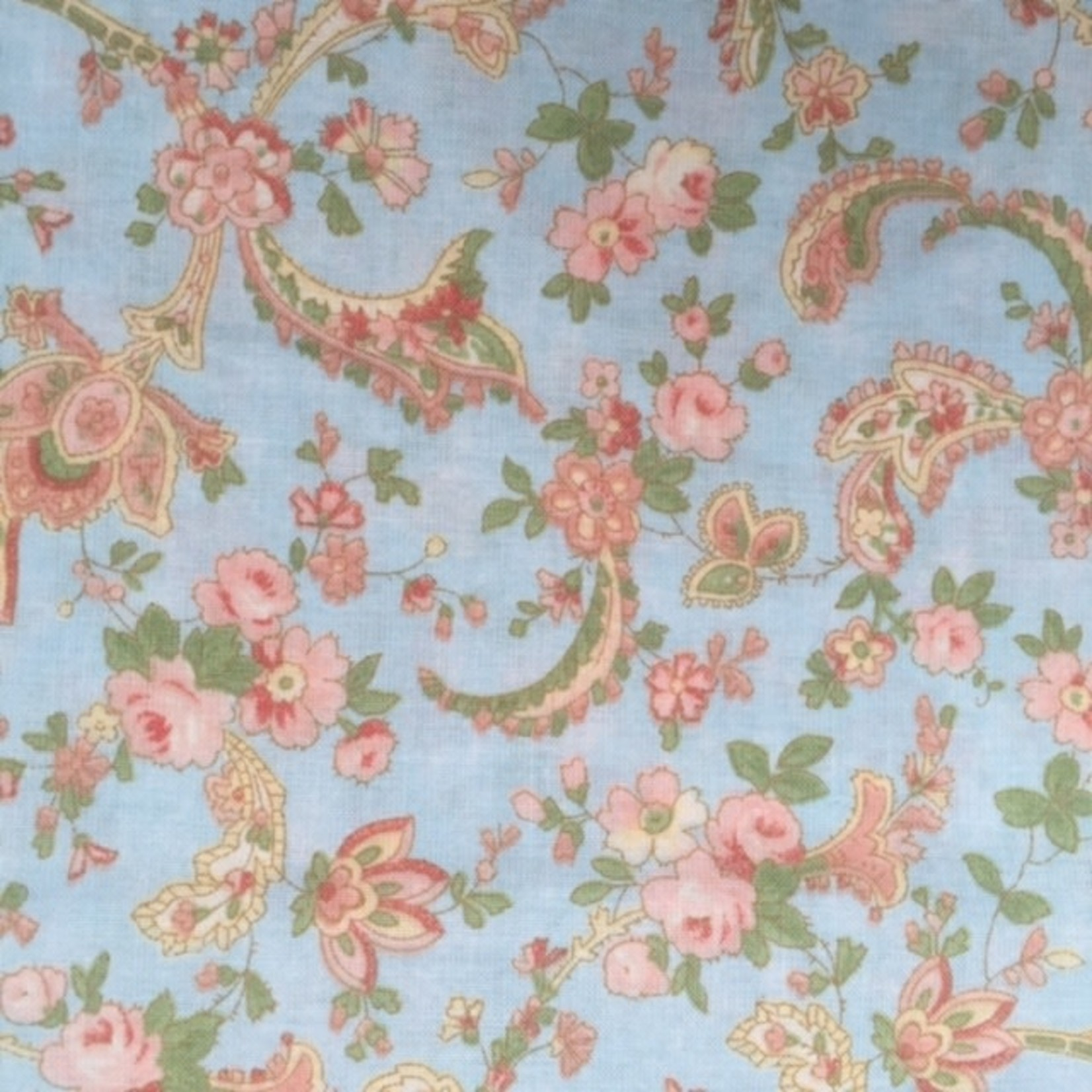 Moda 3 Sisters - Faded Memories - Floral Blue