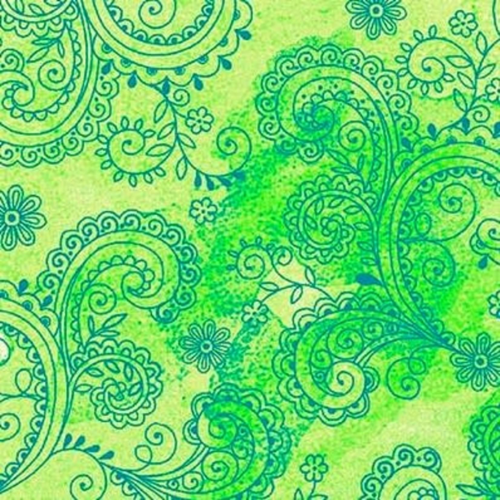 QT Fabrics Avalon - Licht Groen
