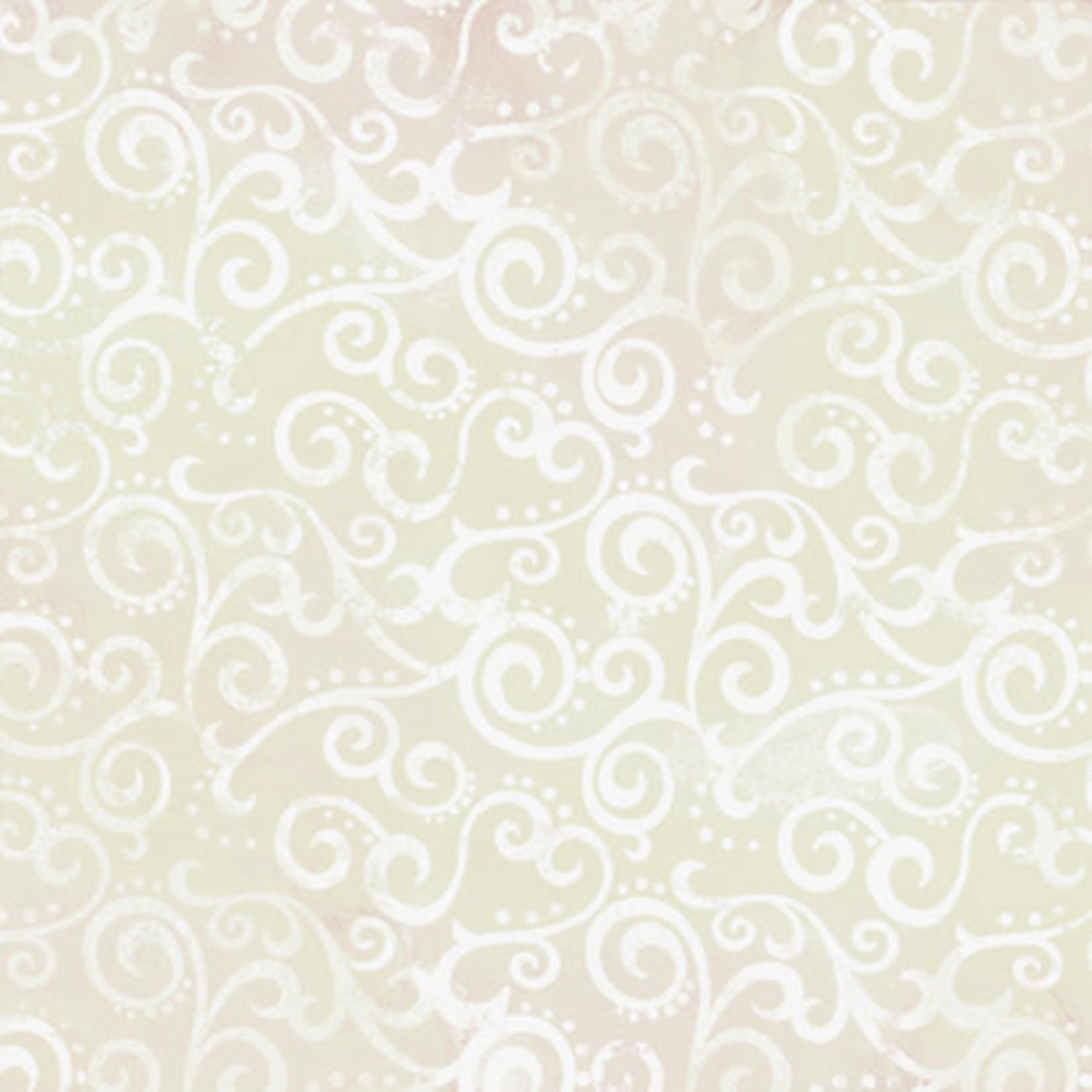 QT Fabrics Ombre Scroll - Crystal
