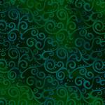 QT Fabrics Ombre Scroll - Forest