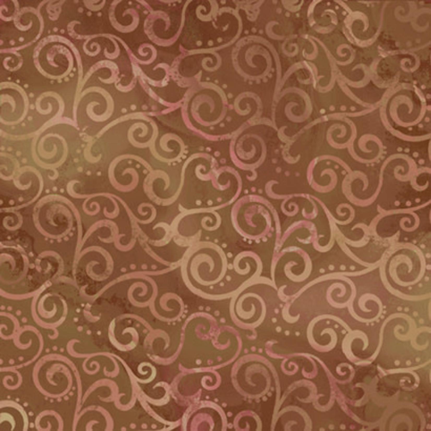 QT Fabrics Ombre Scroll - Sable