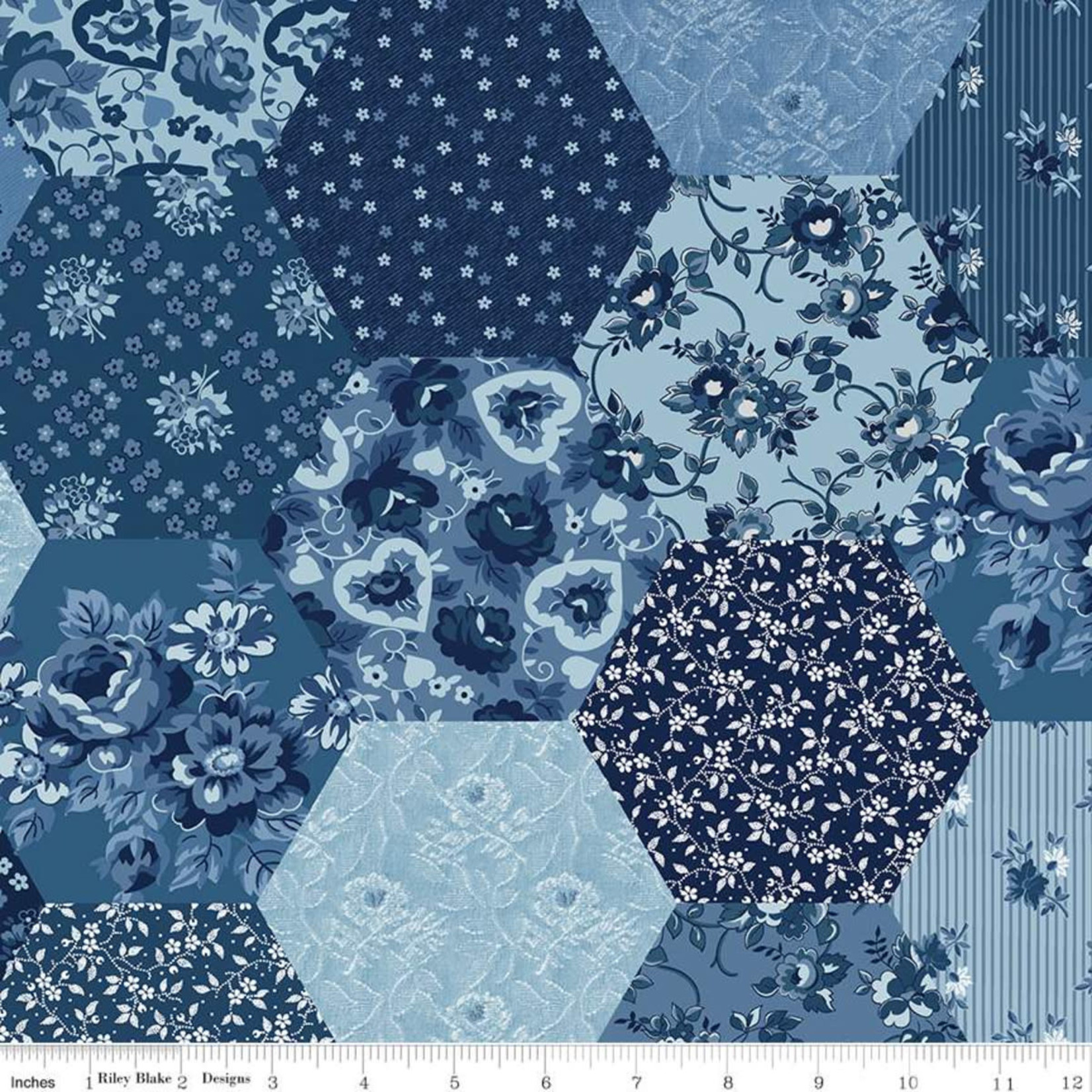 Riley Blake Designs Delightful Patchwork - Blue
