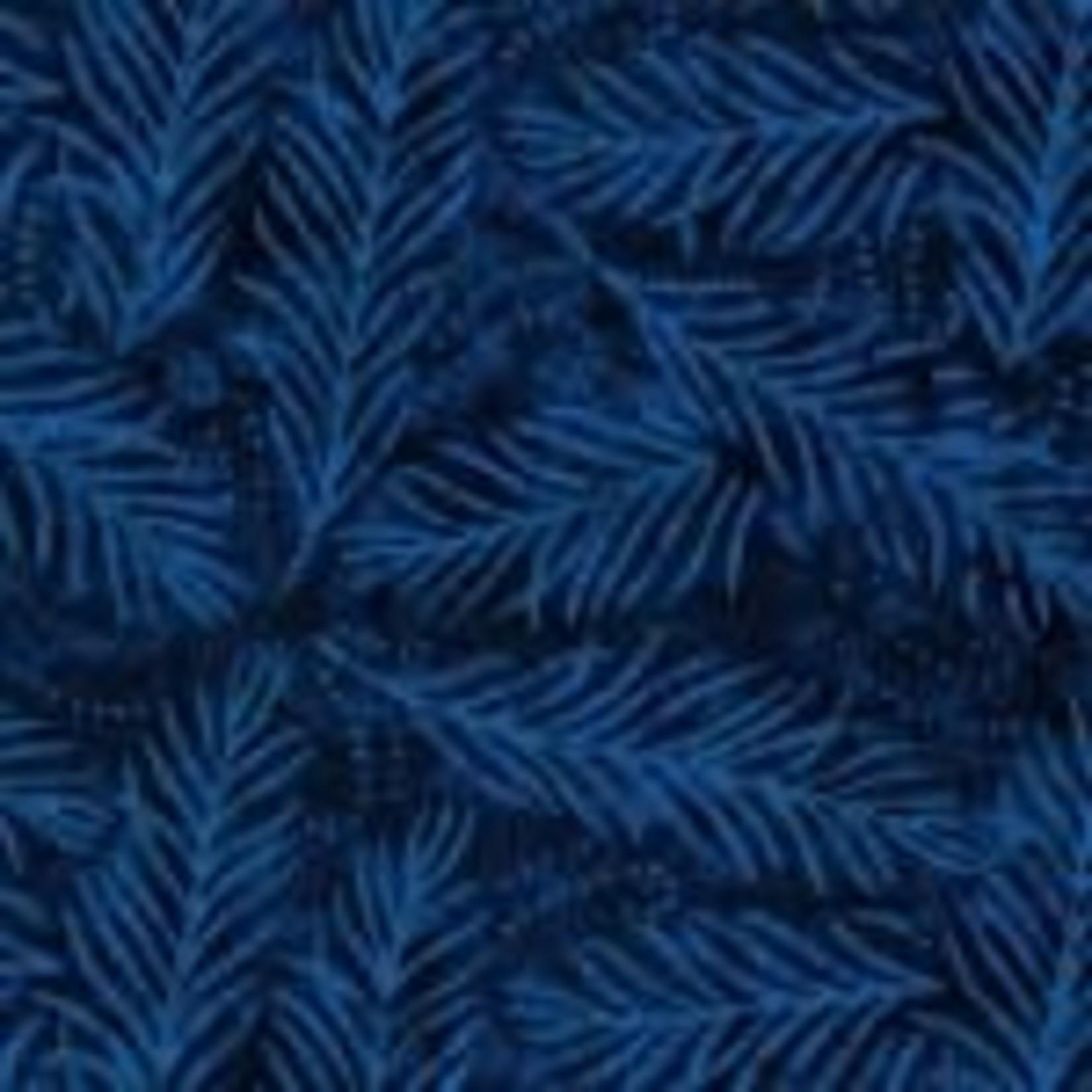 Wilmington Prints Delicate Fronds - Navy