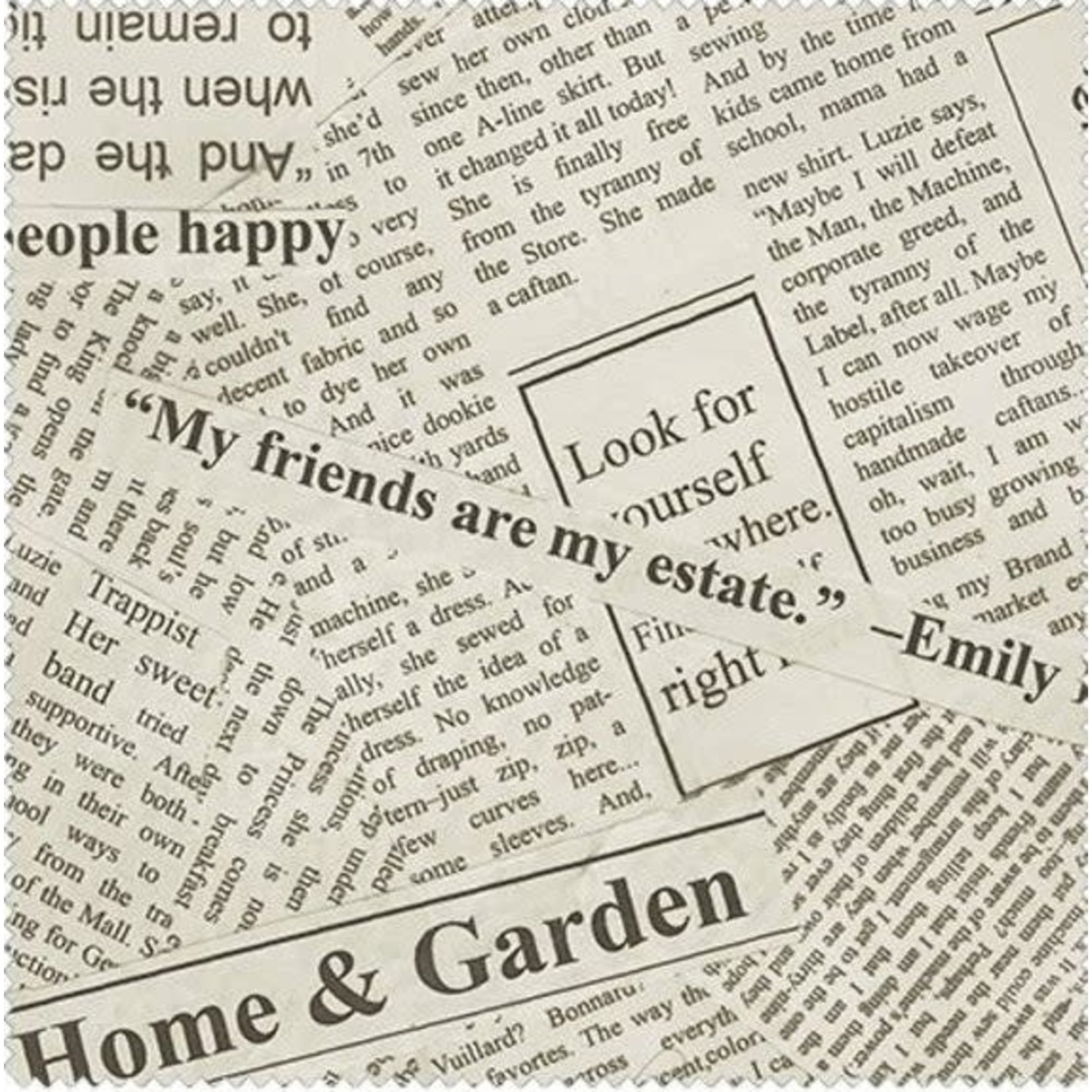 Windham Fabrics Newsprint - Beige