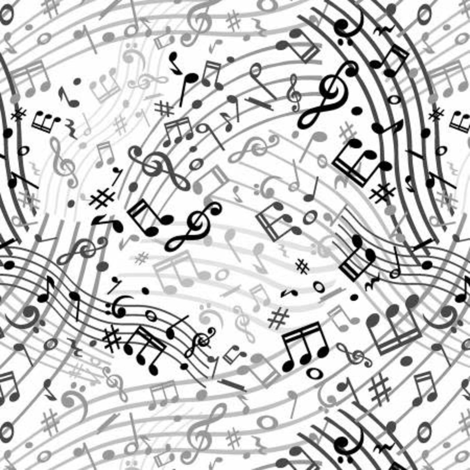 Windham Fabrics Music - White