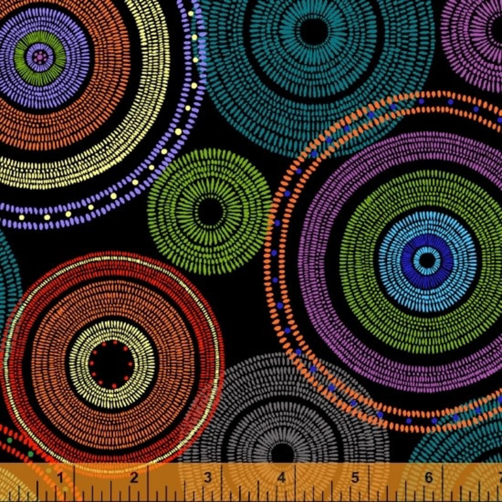 Windham Fabrics Circles - Black
