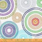 Windham Fabrics Circles - White
