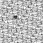 Windham Fabrics Packed Cats - White