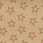 Basic Palette Bargains Patriotic Stars - Antique Red/Teastean