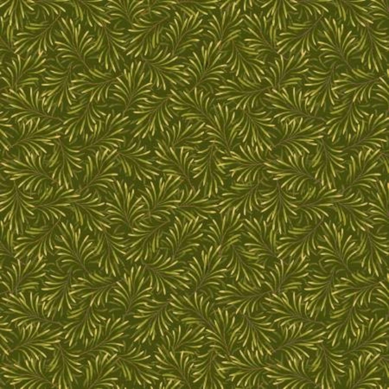Benartex Studio Boughs of Beauty - Medium Green