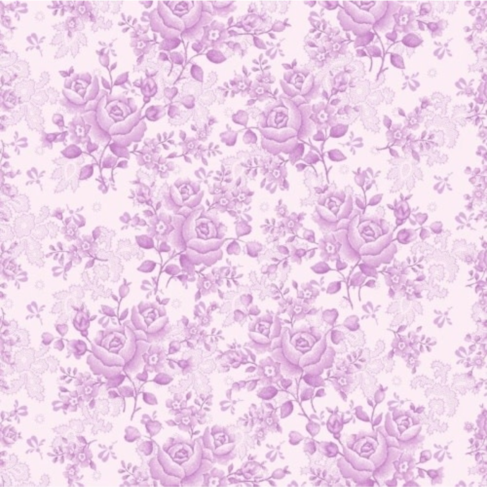 Benartex Studio Homestead Carriage - Climbing Rose - Violet